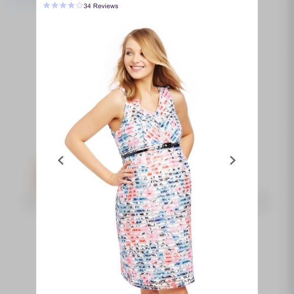 Motherhood Maternity Dresses & Skirts - Maternity Dress Jacquard Lace Floral size Medium